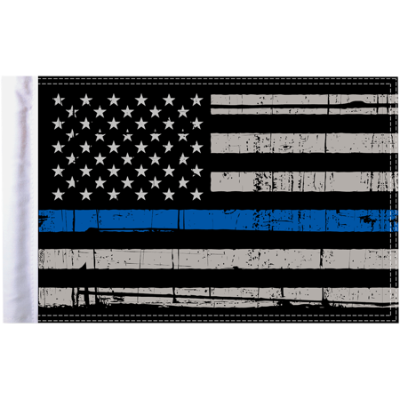 15in Deck (Pro Pad Flag Police Thin Blue Line 10in. x 15in )