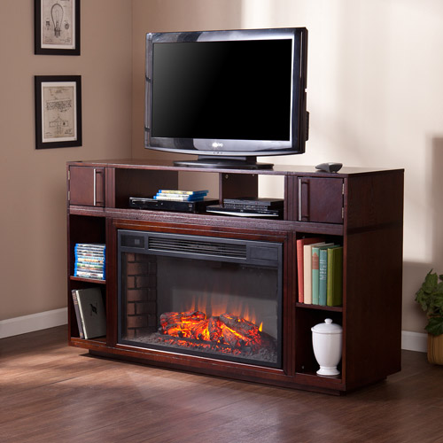 Southern Enterprises Braeden Electric Fireplace Media Console, for ...