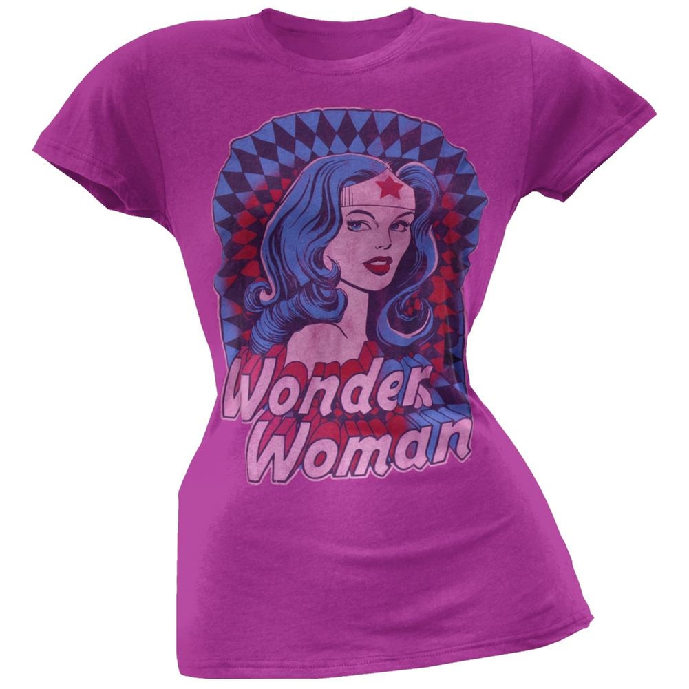 Wonder Woman - Psychedelic Portrait Juniors T-Shirt