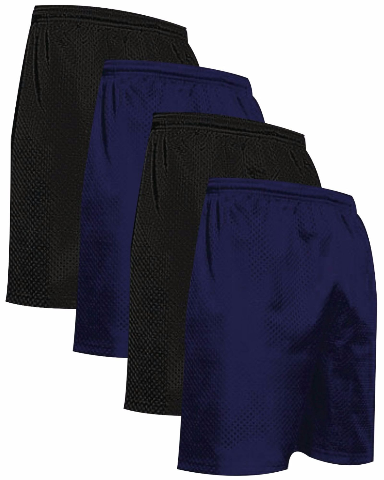 """VALUE PACK  > BUY 2 GET 2 FREE >  4 PACK > THE RAM BRAND > Men's  9"""" Performance Pro Mesh Gym Champ Shorts (XS-4XL) $10 S/H is on the 1st Pack only. In this Pack: (XS)(2Black/2Navy)"""