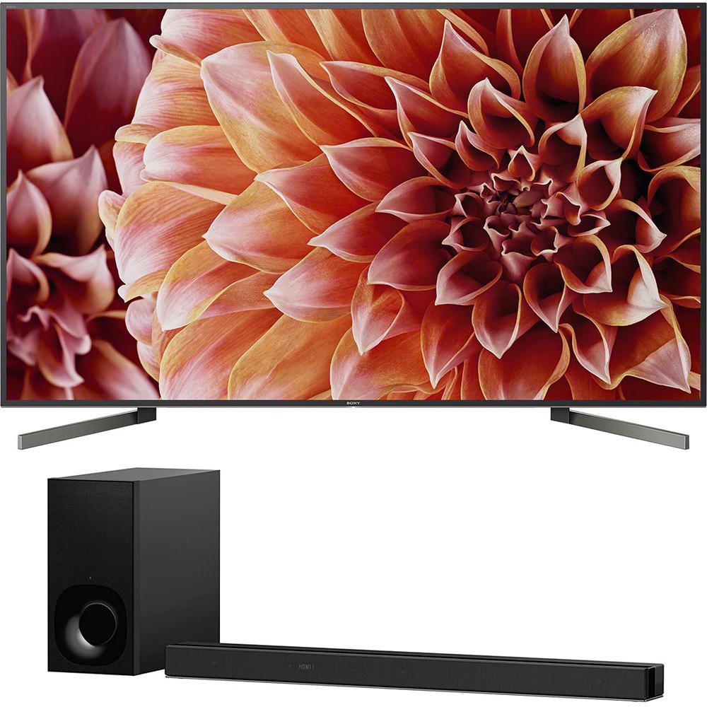 Sony 85-Inch 4K Ultra HD Smart LED TV 2018 Model (XBR85X900F) with Sony 3.1ch Soundbar with Dolby Atmos