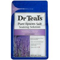 Dr Teals Pure Epsom Salt Solution, Soothe - Sleep with Lavender 48 oz 4pk