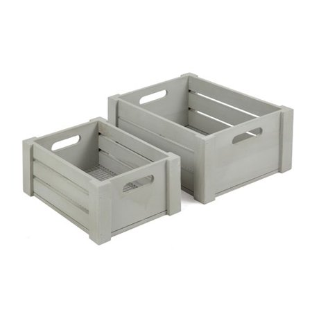 Grey Wire Crate, 2 Piece