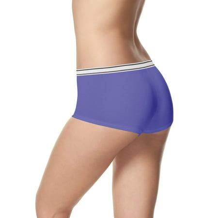 Women's Cotton Sporty Boyshort Panties - 6+2 Bonus Pack - Boy Shorts Panties