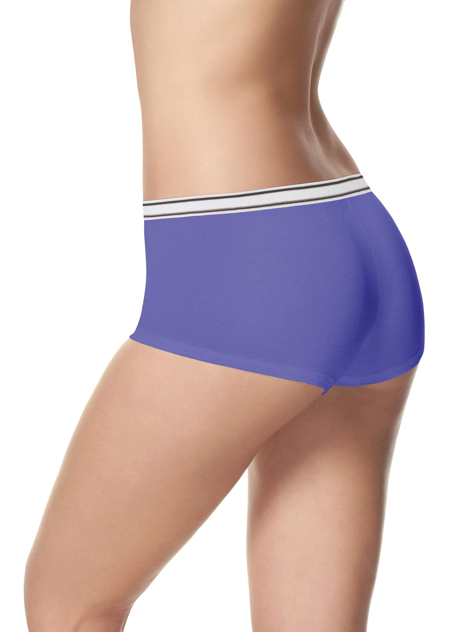 Women's Cotton Sporty Boyshort Panties - 6+2 Bonus Pack