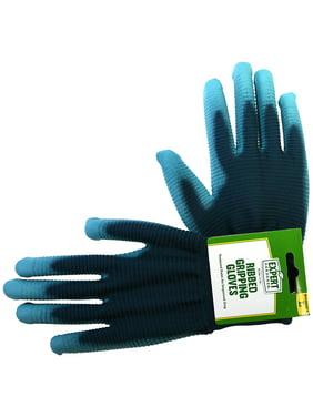 Expert Gardener Women's Large Ribbed Gripping Gloves
