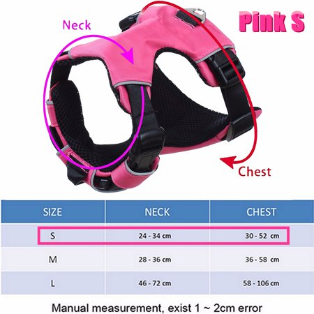 Mesh Nylon Padded Reflective Safety Pet service dog vest Dog Puppy Cat Vest Harness Collar Chest Strap - image 7 of 8