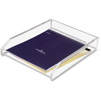 Kantek Clear Acrylic Single Letter Tray, 4-3/4 X 14 X 10-1/2 inches