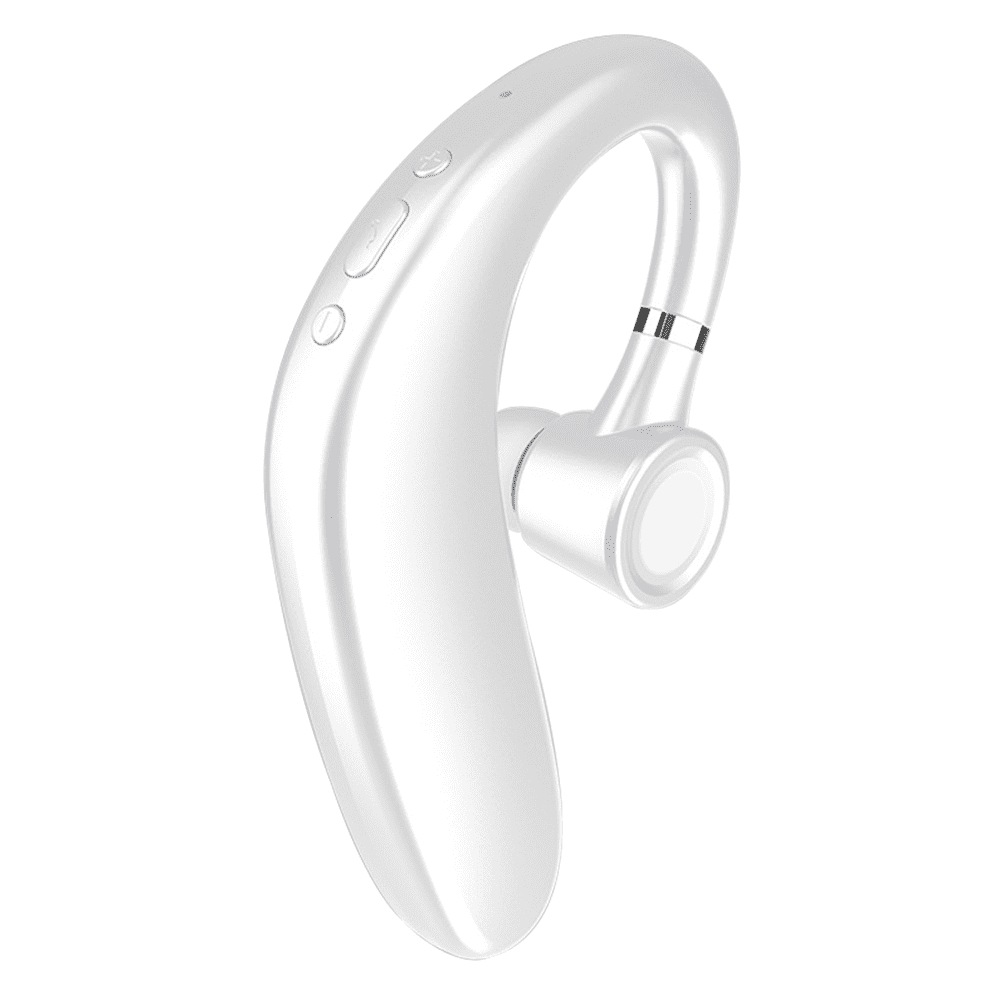 Bluetooth Headset Wireless Bluetooth Earpiece With 35 Hours Playtime And Noise Cancelling Mic Ultralight Earphone Hands Free For Most Phone White Walmart Com Walmart Com