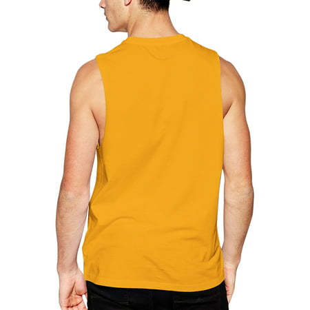 Mens Sleeveless Muscle Tank Top Summer Gym T-Shirts