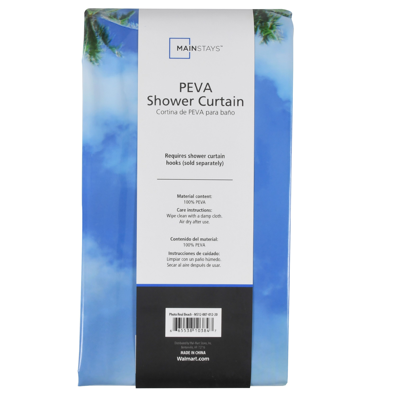 Mainstays PEVA Shower Curtain, Photoreal - Walmart.com