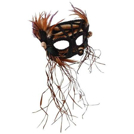 Venetian Cavewoman Womens Adult Brute Barbarian Costume Mask - Barbarian Woman