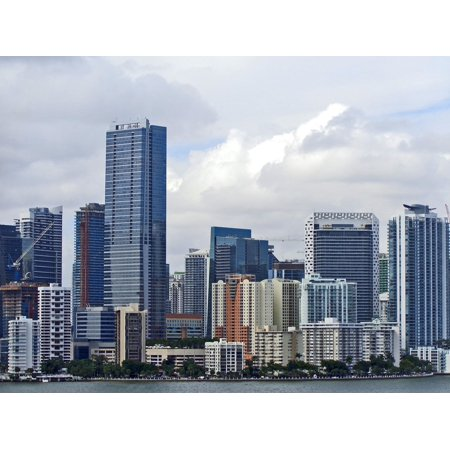 Tall City Delivery >> Laminated Poster City Miami Tall Buildings Cityscape Downtown Miami Poster Print 24 X 36