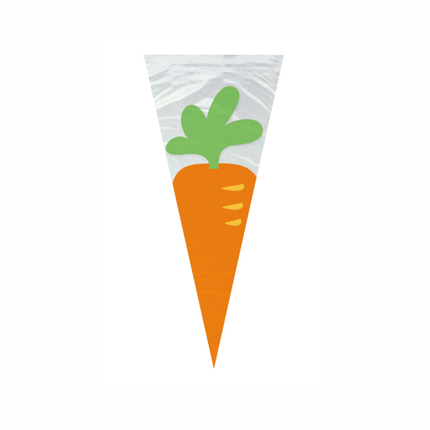 SALE 12 Carrot Shaped Easter Sweet Cones or Party Bags