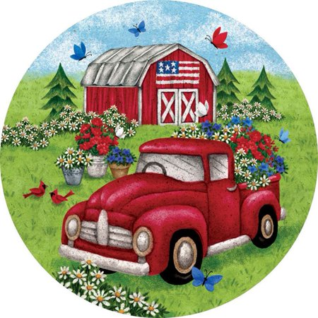 Custom Decor Accent Magnet - Truck and Barn ()