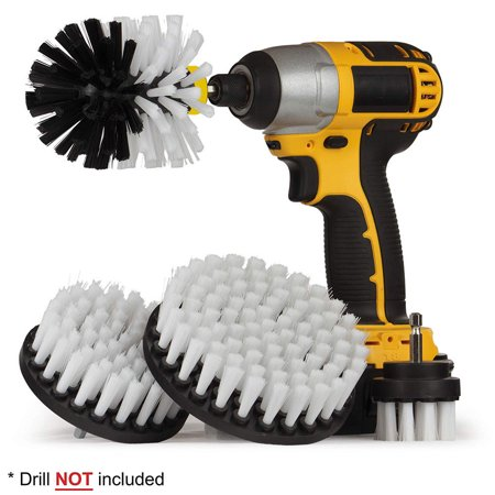 matoen 4Pcs Grout Power Scrubber Cleaning Brush, Shower, Tile and Grout All Purpose Power Scrubber Cleaning