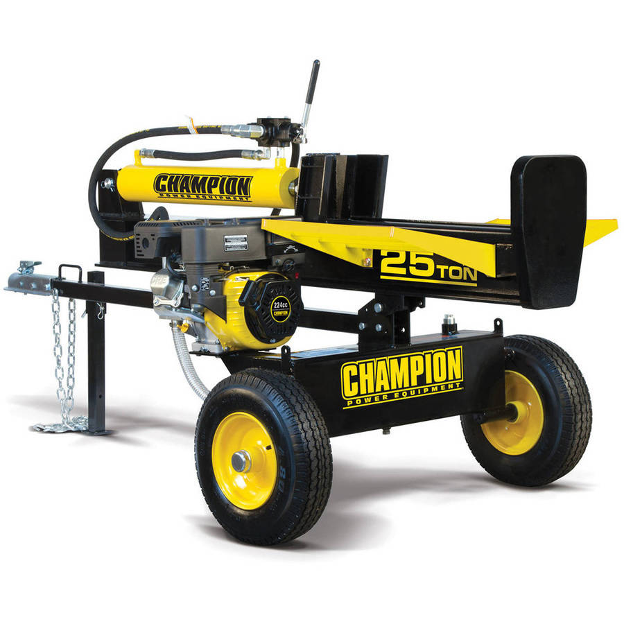 Champion 100251 25-Ton Horizontal Vertical Full Beam Gas Log Splitter with Auto Return by Champion Power Equipment