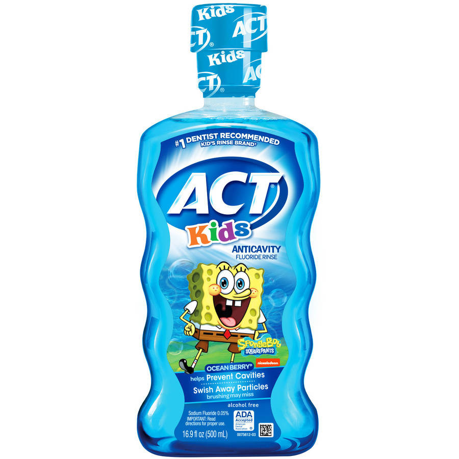 ACT Kids SpongeBob Ocean Berry Anticavity Fluoride Rinse, 16.9 oz