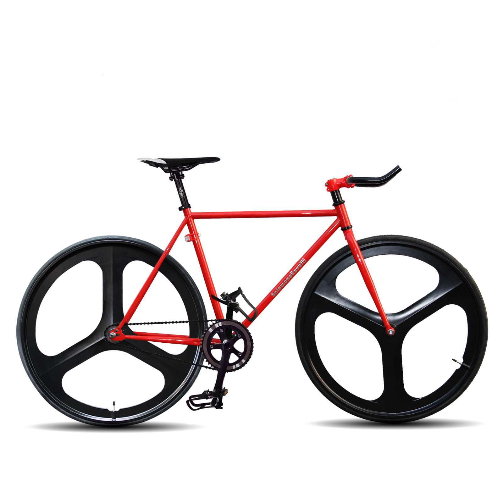 SC Fixed Gear 700c Tri Spoke Rim Front Rear Single Speed Fixie Bicycle Wheel Set