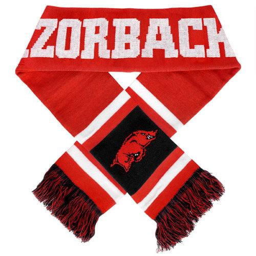 2012 Team Stripe Scarf - NCAA Arkansas Razorbacks