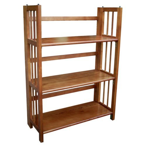 3-Tier Stackable Folding Bookcase