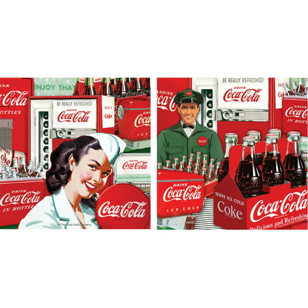Thirstystone Occasions Drink Coasters, Set, Coke Collage Vending A/2