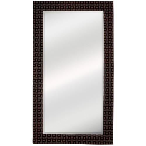 Majestic Mirror Oversized Dark Brown Rectangular Framed Beveled Glass Wall Mirror