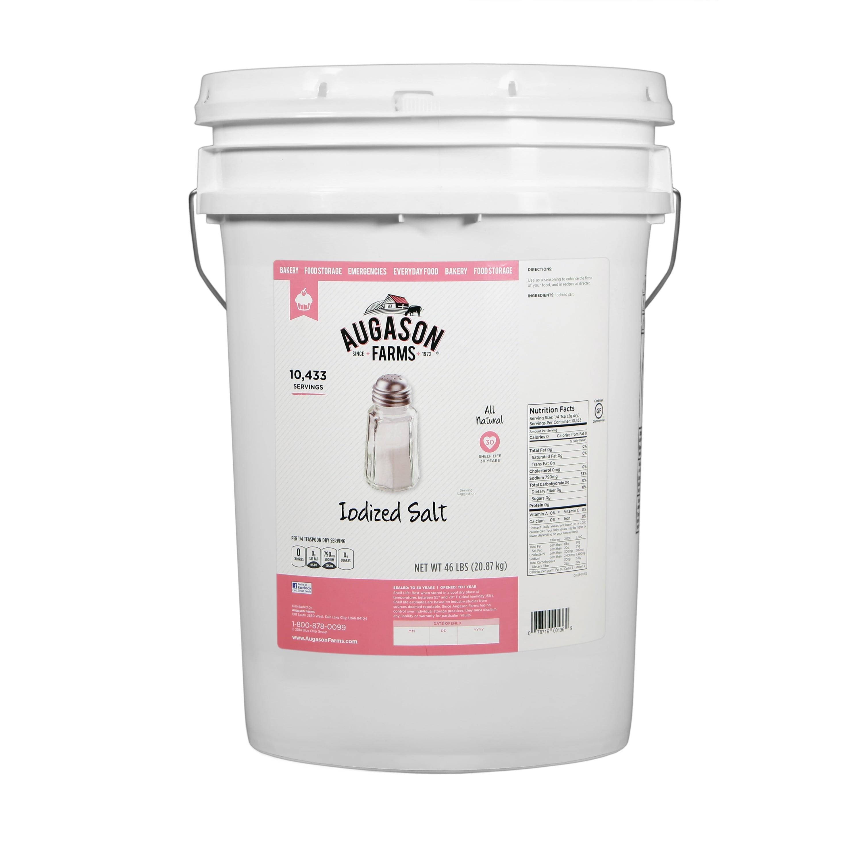 Augason Farms Iodized Salt 46 Pound Pail