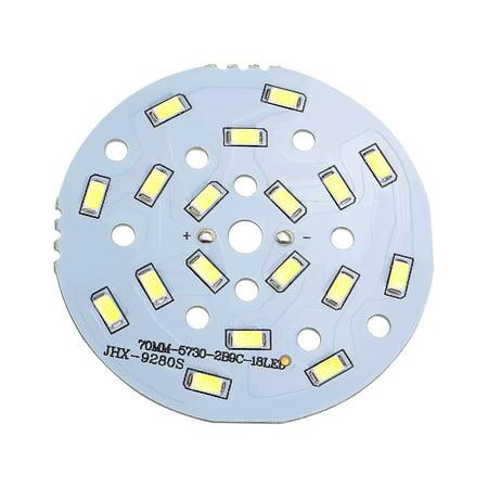 - 70mm Dia 9W 18 LEDs 5730 SMD Pure White  Ceiling Light Aluminum Board