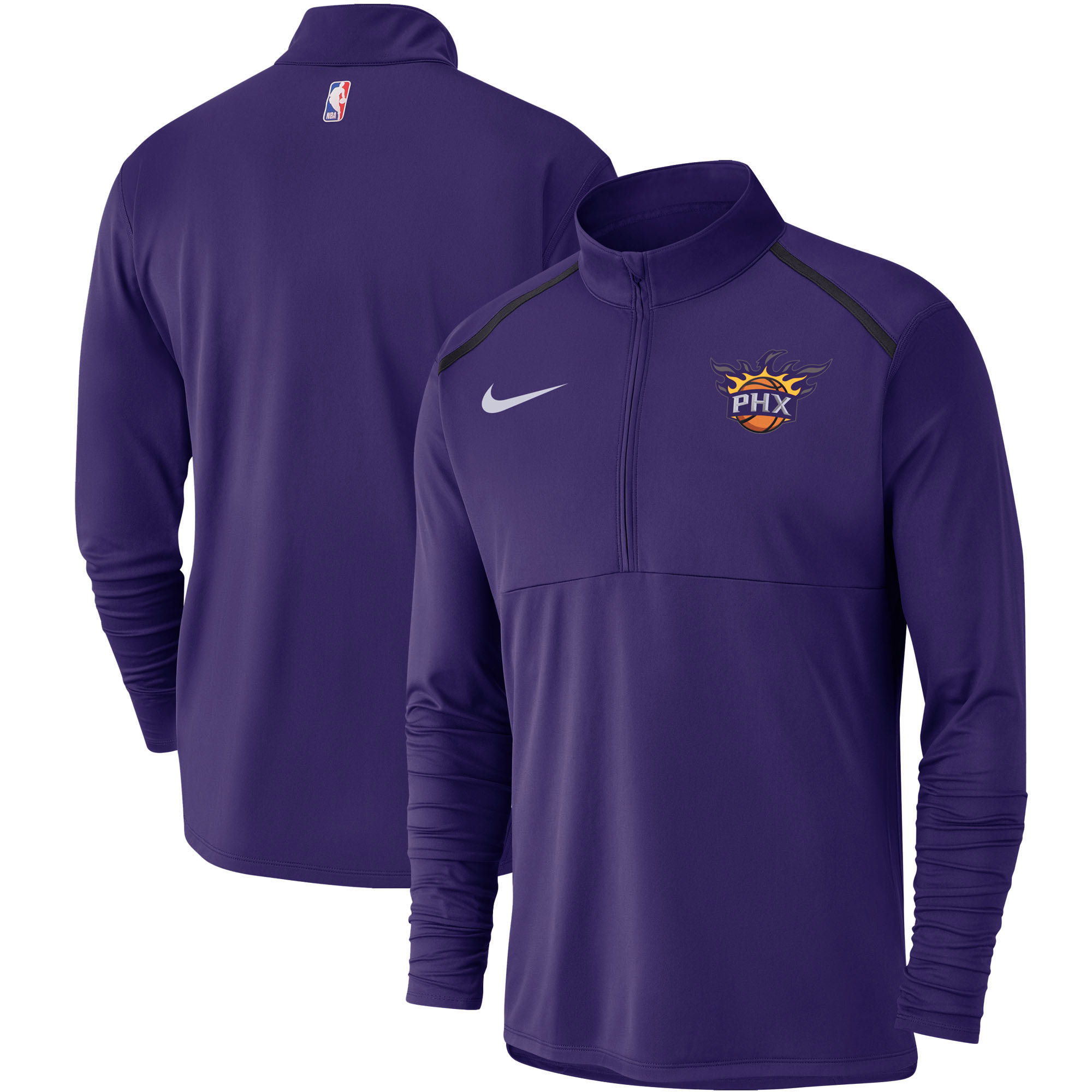 Phoenix Suns Nike Element Performance Half-Zip Pullover Jacket - Purple