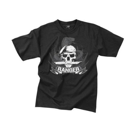 """Black """"Ranger"""" Skull T-Shirt, Extra Large"""