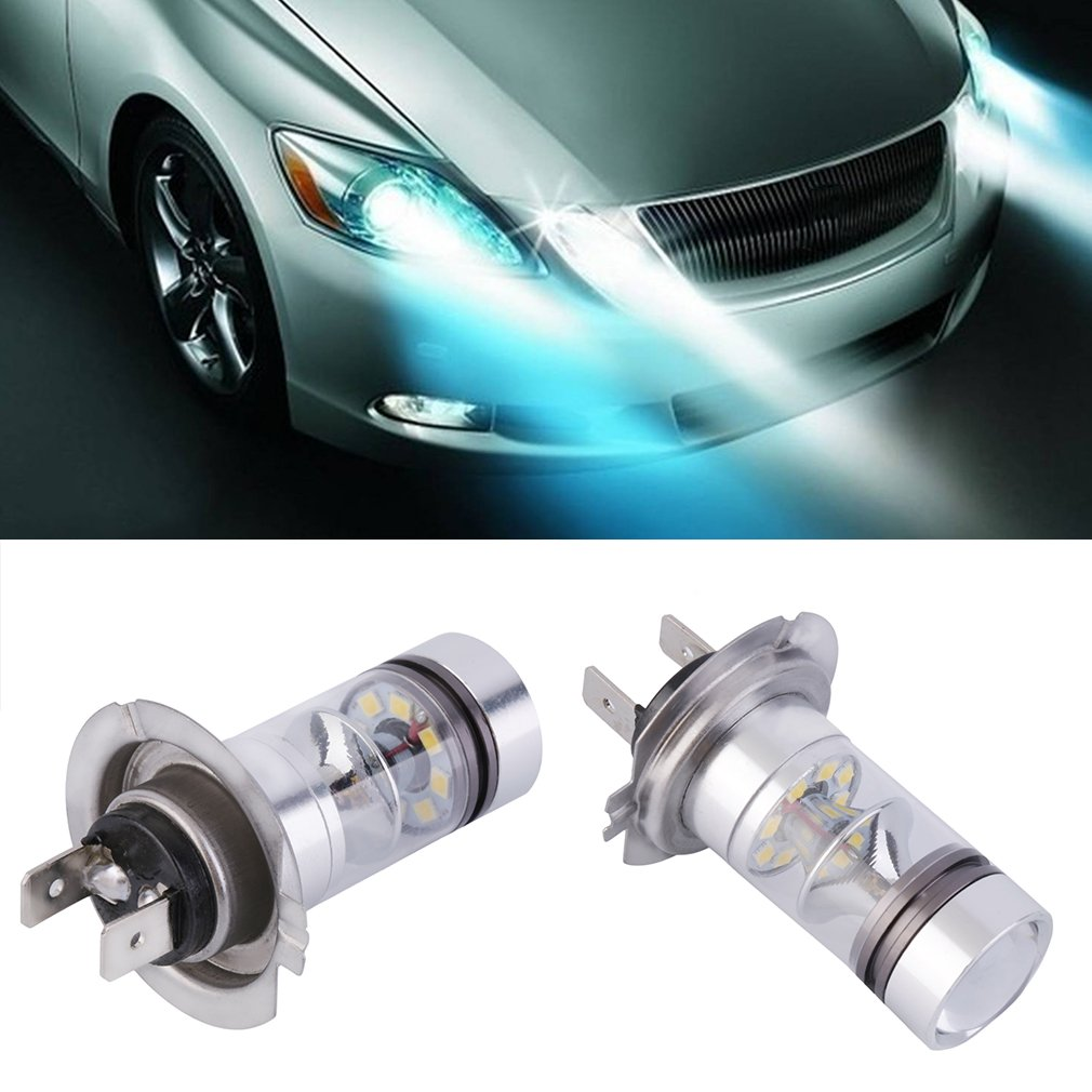 1x HID White Super Bright H7 6000K 100W LED 20-SMD Projector Fog Driving DRL Light Bulb Energy Saving Auto Car Bulb