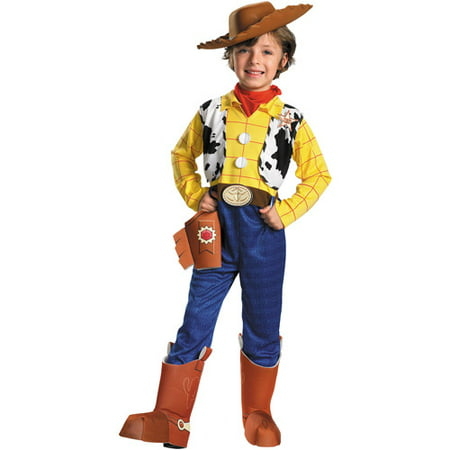 Toy Story Woody Deluxe Child Halloween Costume - When Did Halloween Start For Kids