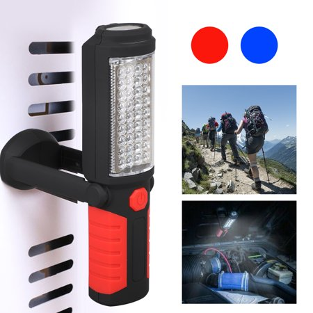 LED Work Light, COB LED Inspection Work Light with Magnetic Base. Ultra Bright LED Flashlight with 360° Swivel Hook, for Car, Outdoor, Camping, Home Emergency,