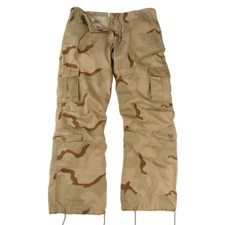 Women's Desert Camo Vintage Paratrooper Cargo Pants