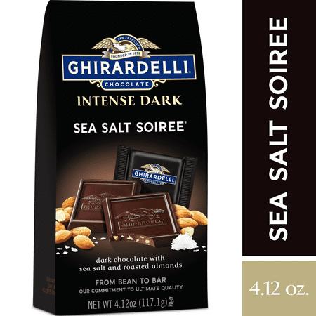 Ghirardelli Intense Dark Chocolate Squares - Sea Salt Soiree – 4.12 oz.