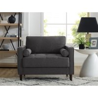Lifestyle Solutions Mid-Century Modern Design Lorelei Large Armchair in Multiple Colors