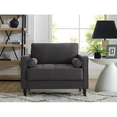 Lifestyle Solutions Lorelei Large Armchair in Heather Grey Fabric ()