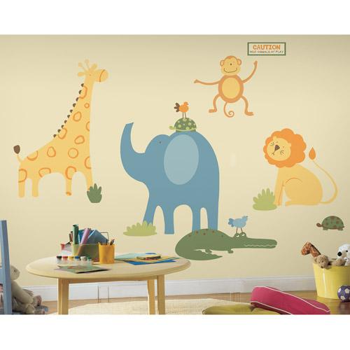 RoomMates Sapna Zoo Animals Peel & Stick Giant Wall Decals