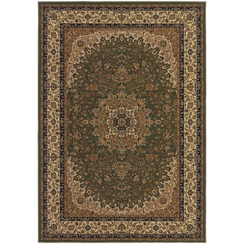 Astoria Grand Belcourt Royal Kashan Green/Brown Area Rug
