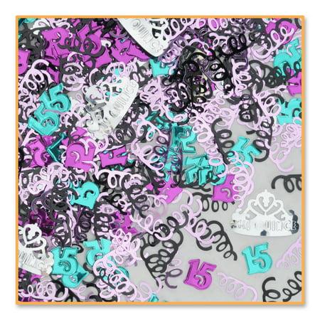 Pack of 6 Metallic Multi-Colored Mis Quince Quinceanera Celebration Confetti Bags 0.5 oz.](Quinceañera Decorations)