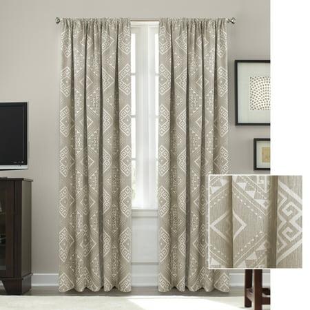 Better Homes & Gardens Woven Diamonds Jacquard Window Curtain Panel