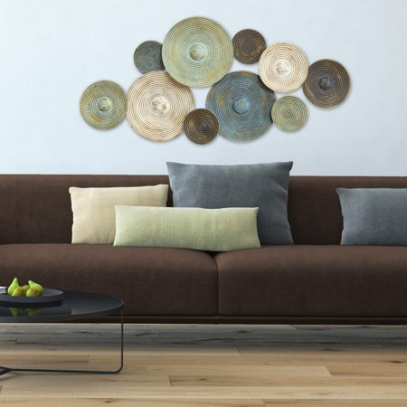 Home Plate Wall (Stratton Home Decor Asheville Textured Plates Wall)