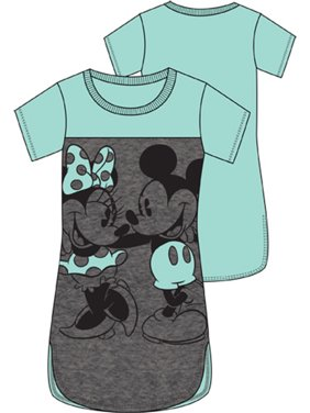 Product Image Disney Adult Junior Mickey Mouse   Minnie Mouse X-Large Sleep  Shirt 3a56dcf36