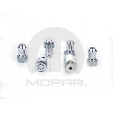 Mopar 82211405 Five Piece Wheel Lock Set Jeep Wrangler Liberty Dodge Nitro