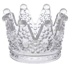 "6"" Glass Crown Cake Decoration Favor Gift Birthday Baby Shower"