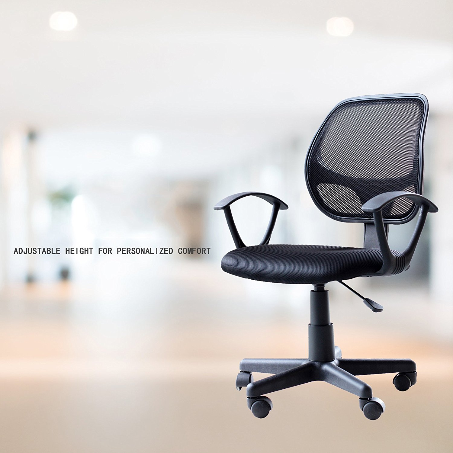 IDS Home Ergonomic Adjustable Mesh Low-Back Office Task Desk Chair with Arms