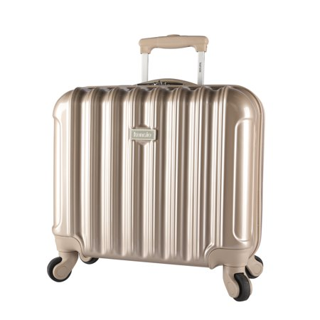 16-inch Metallic Hardside Laptop Spinner Briefcase