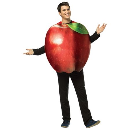Get Real Apple Adult Halloween Costume - One Size - The Real Origin Of Halloween