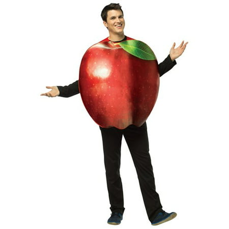 Get Real Apple Adult Halloween Costume - One Size](Costume Apple)